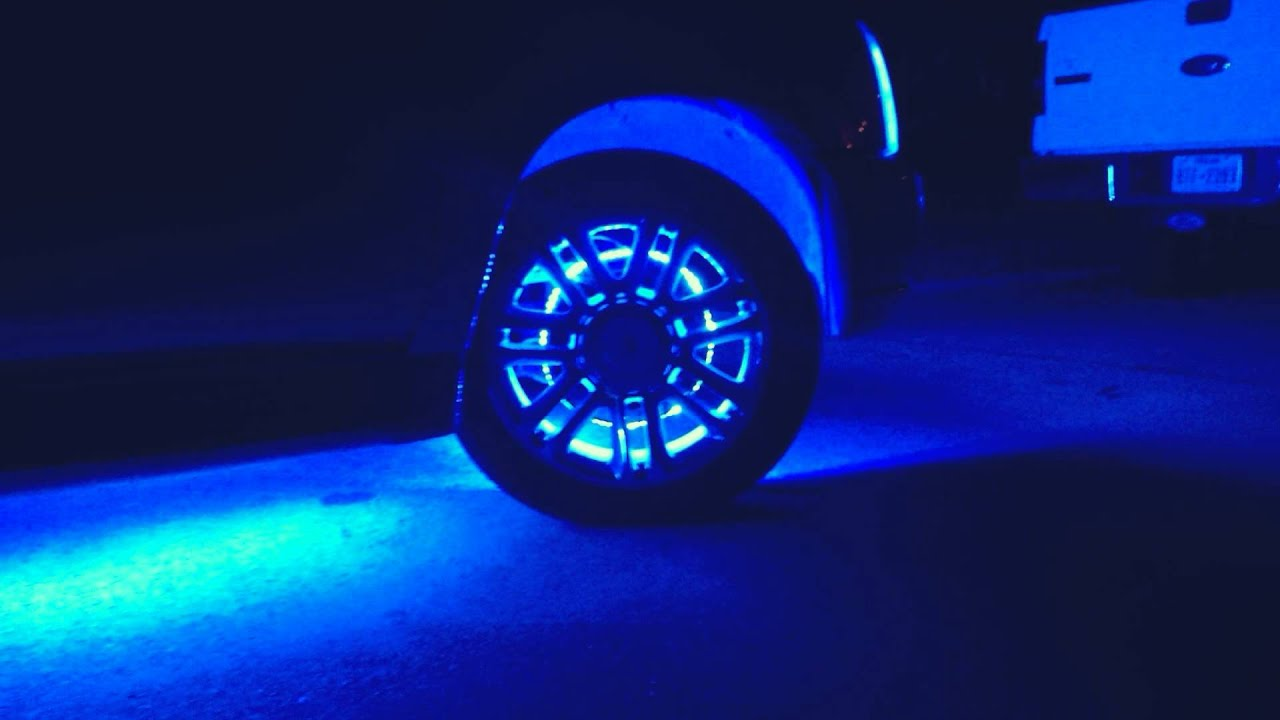 Spaceship escalade ext with dual color underglow wheel lights precision lighting 214 243 - Underglow neon ...