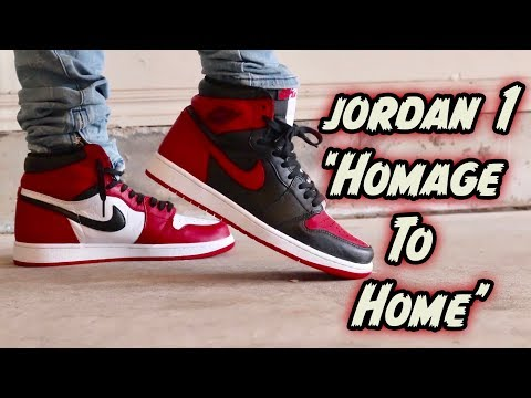 AIR JORDAN 1  HOMAGE TO HOME  REVIEW + ON FOOT! 313f469c3
