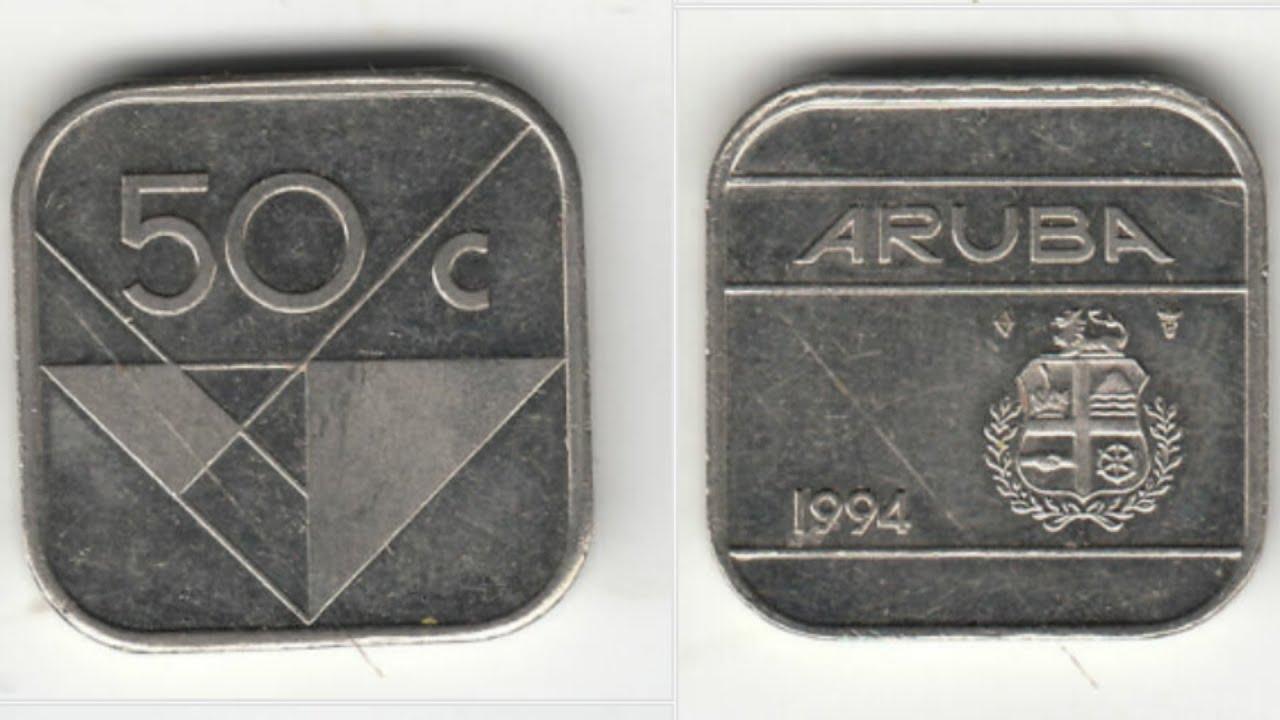 aruba 50 cent coin