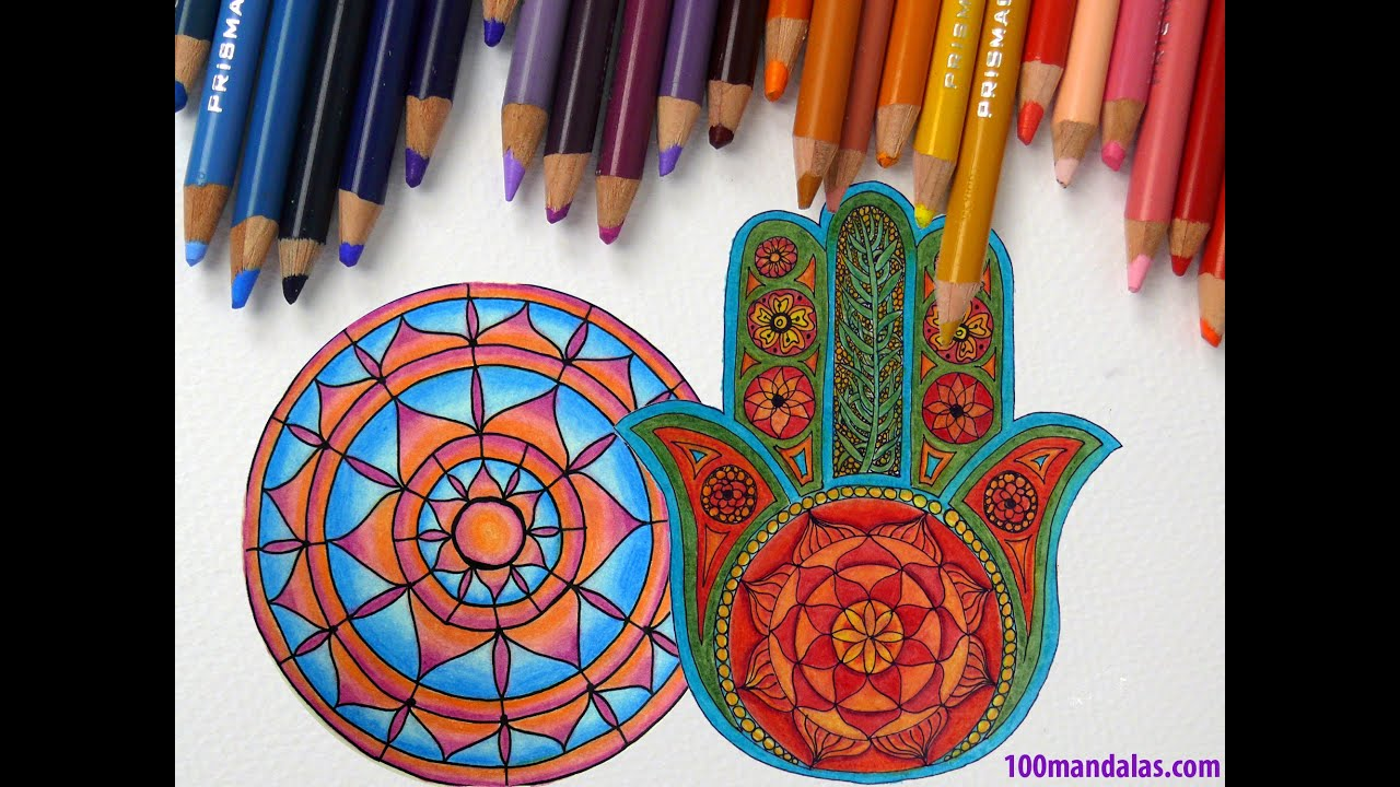 episode 3 how to use colored pencils to color mandalas youtube