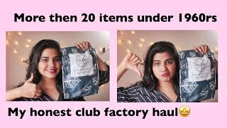 I am back🤩My Honest Club Factory Haul💸💰more then 20 items under 1960 Rs!!|| RASHMI BAIRAGI ||