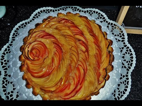 tarte-aux-pommes-crème-amandine