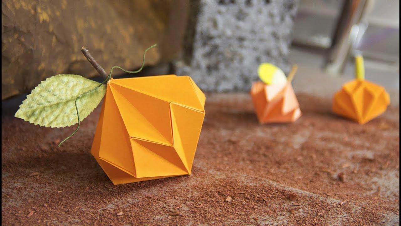 Calabaza de papel halloween ideas y origami - Manualidades de calabazas ...