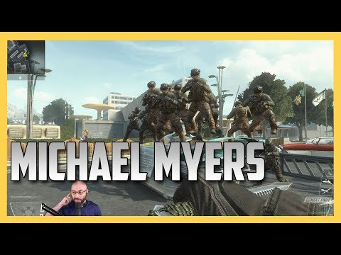 Black Ops TWO Michael Myers on Nuke Town!