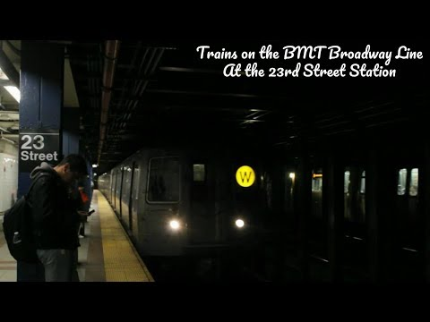 NYC Subway: Broadway Line Train Action at 23rd Street Station