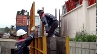 видео Сборка капитальных стен