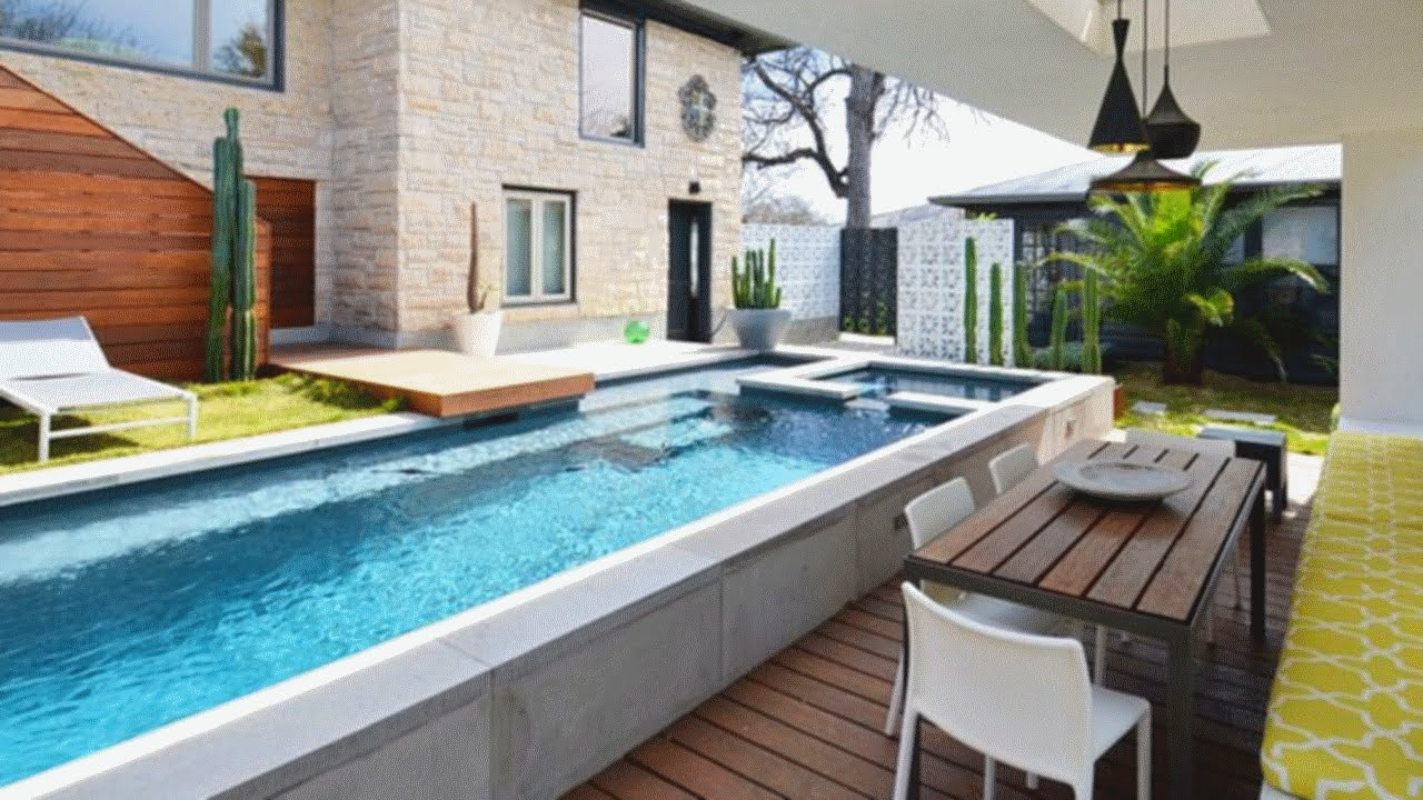 25 Stunning Backyard Pool Design Ideas - YouTube on Backyard Yard Design  id=78492