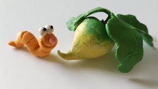 Как слепить Репку из пластилина Modelling Clay Turnip #репка #turnip