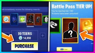 BUYING EVERY SEASON 3 BATTLE PASS TIER in Fortnite: Battle Royale (New Skins - Items Showcase)