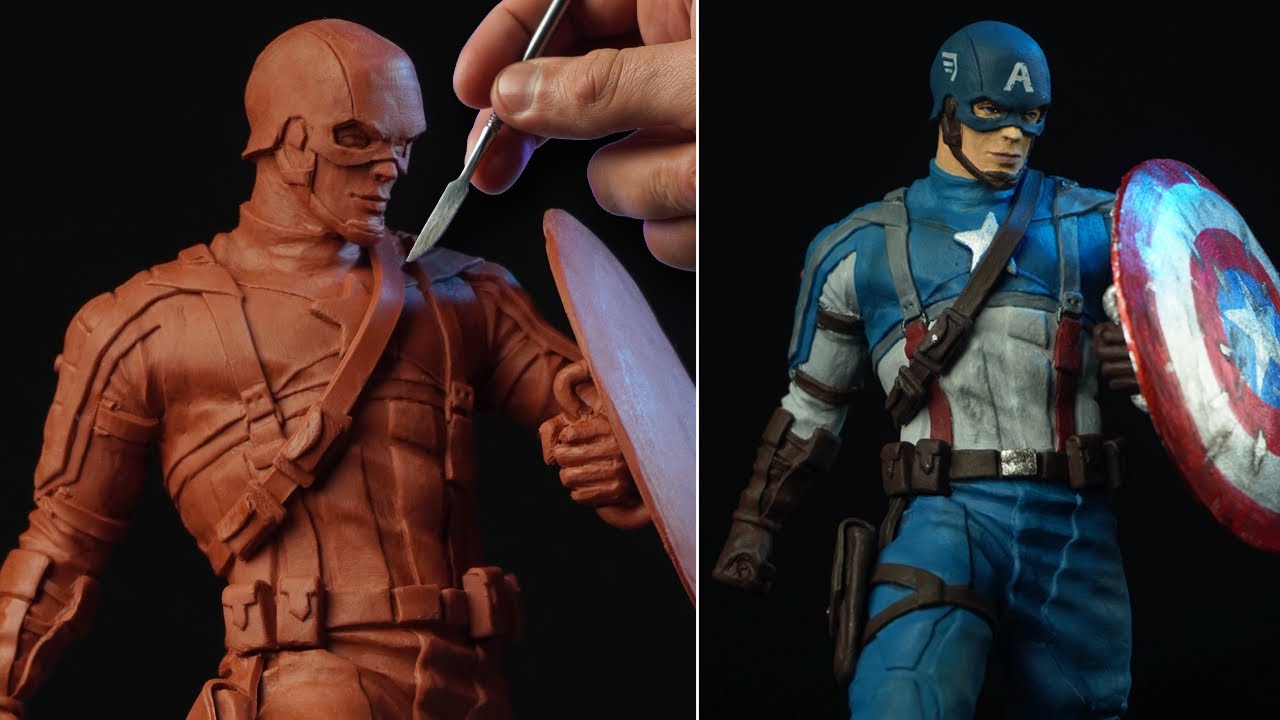 Sculpting CAPTAIN AMERICA   The First Avenger