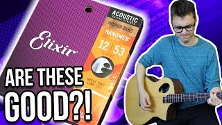 Are Coated Acoustic Strings Any Good?! || Elixir Nanoweb Impressions