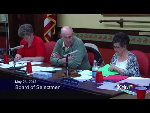 Brookfield MA Board of Selectmen and Advisory Committee, May 23, 2017