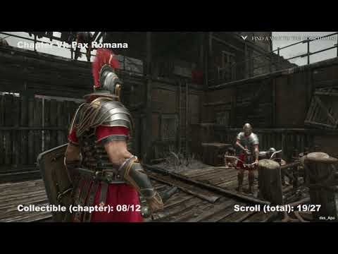 Ryse: Son of Rome - 100% Collectibles Guide - Chapter 6: Pax Romana - Chronicles/Scrolls/Vistas