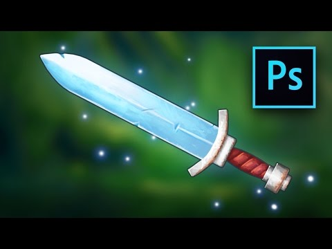 2D Sword Weapon Game Asset Design in Photoshop - full game design tutorial