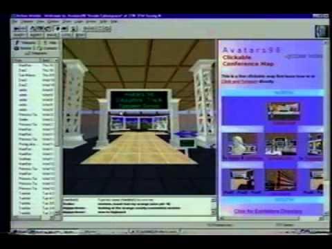 Dr. Bruce Damer's 1998 live demo of avatar virtual worlds including Avatars98 @ CASCON, Toronto