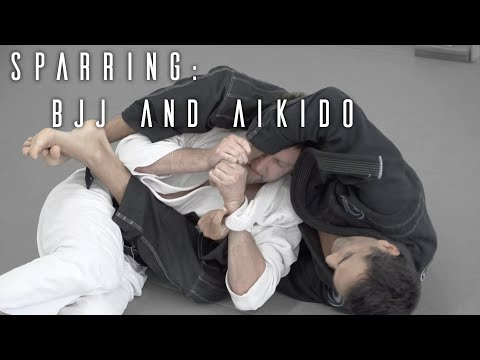 Aikido and Brazilian Jiu Jitsu Sparring | The First Roll | ROYDEAN.TV