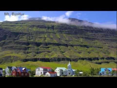 Seydisfjordur town, East Iceland.