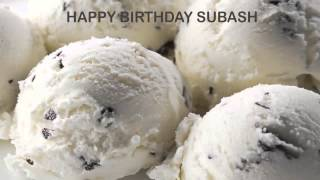 Subash   Ice Cream & Helados y Nieves - Happy Birthday