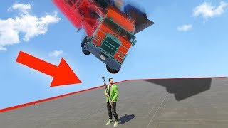 DODGE THE 500MPH TRUCK OR DIE! (GTA 5 Funny Moments)