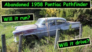Saved from the crusher 1958 Pontiac Pathfinder will it run and drive again?