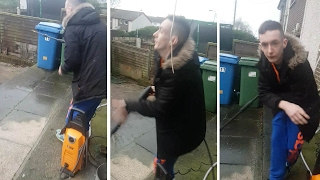 Tourettes Sufferer Tries To Power Wash