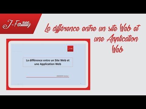 La différence entre un Site Web et une Application Web