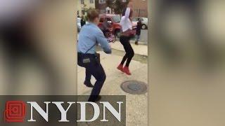 ◄|شاهد| شرطية تتحدى مراهقة في الرقص: هدفها «فض خناقة» - المصري لايت