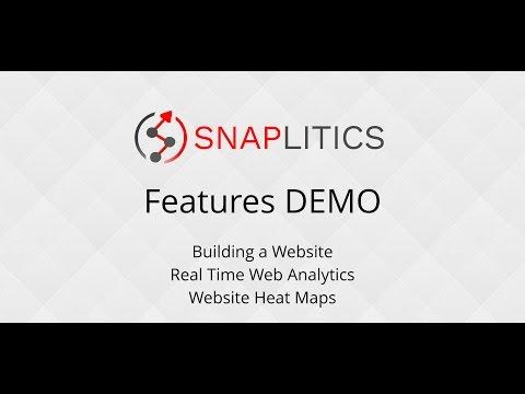 Snaplitics Website Builder + Analytics + Website Heat Maps - Demonstration
