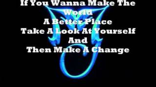 Man In The Mirror Karaoke with Lyrics