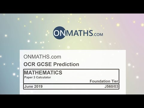 2019 OCR Paper 3 Predicted Foundation Maths GCSE Calculator Exam J560/3 thumbnail