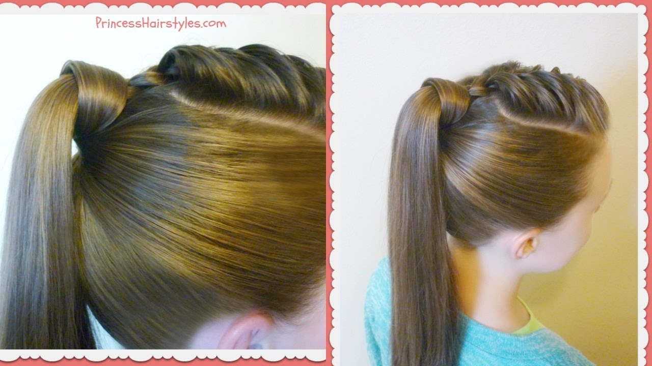 The Best Hair Wrapped Ponytail Easy Hairstyle Tutorial