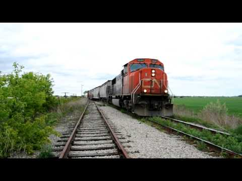 CN 438 Merging Fargo West HD