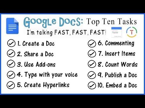 Google Docs 2018: Top 10 Tasks (Google Educator)