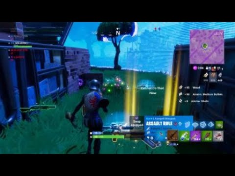 Fortnite-quick building to avoid death