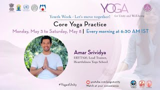 77- Core Strengthening Flow 1 By Amar Srividya | Yoga For Unity And Well Being | Heartfulness