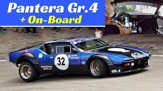 De Tomaso Pantera GTS Gr.4 Action + Roberto Dal Cin Onboard - 2018 Bologna San Luca hillclimb race
