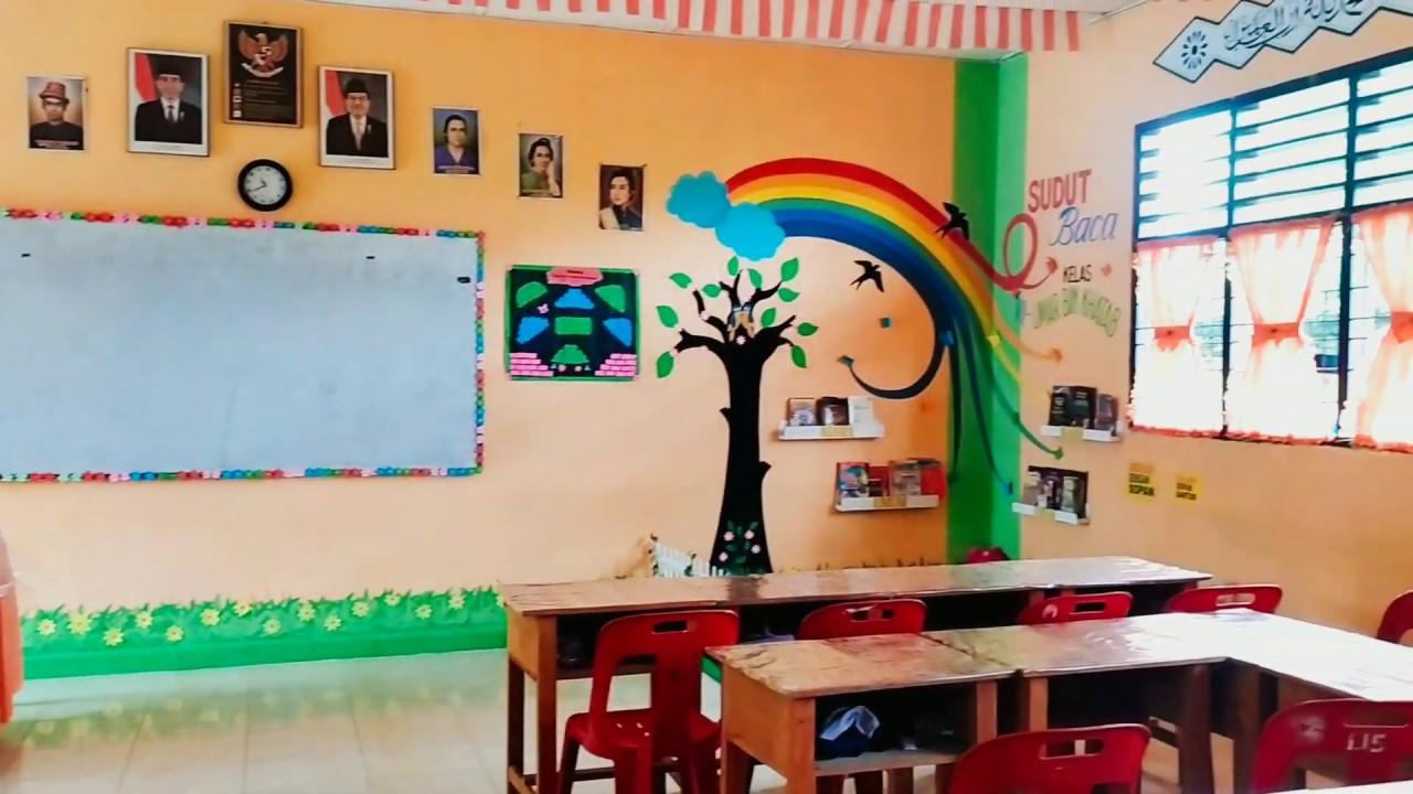 Dekorasi Dinding Kelas Mts Cek Bahan Bangunan Warna cat kelas yang menarik