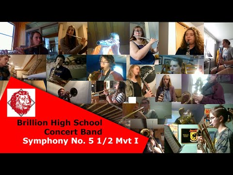 Brillion High School Band - Symphony No. 5 1/2 Mvt I By Don Gillis