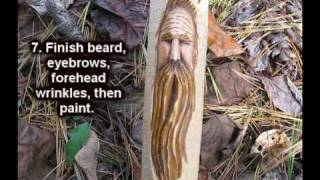 Carving A Simple Woodspirit Face- (quick Review Of The Video)
