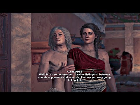 Assassin's Creed Odyssey - All Alkibiades Romance Scenes (With Kassandra)