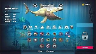 Hungry Shark World PS4 Pt11 Tiger Shark|Message in a bottle, Boss Fight, Unlocking Basking Shark