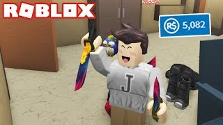 SPENDING 5000 ROBUX in Roblox Murder Mystery 2 *AMAZING LUCK*