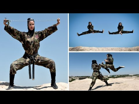 Female NINJAS are training in the desert to become a lethal fighting force in Iran