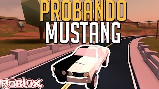 TESTING THE NEW $50,000 MUSTANG - JAILBREAK ROBLOX