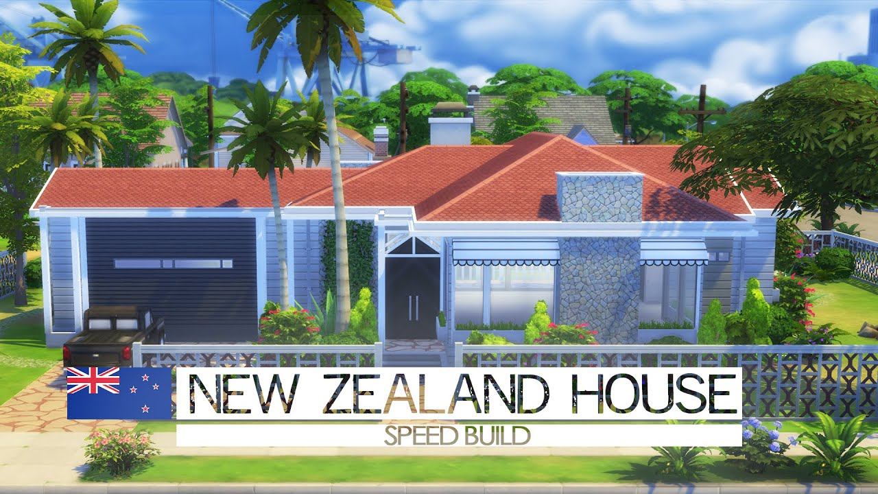 the sims 4 speed build new zealand house around the world