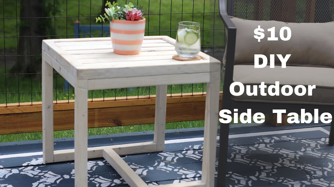 10 simple outdoor side table