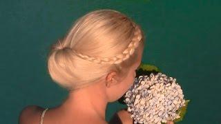 Праздничная/вечерняя/свадебная причёска «Гибсон» своими руками на средние/длинные волосы(А этом видео уроке я вам покажу, как быстро и легко сделать самой себе собранную вечернюю/причёску под назва..., 2014-09-13T11:00:04.000Z)