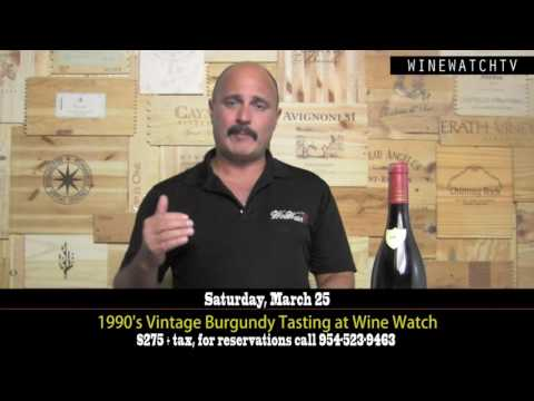 1990 Vintage Burgundy Tasting at Wine Watch - click image for video
