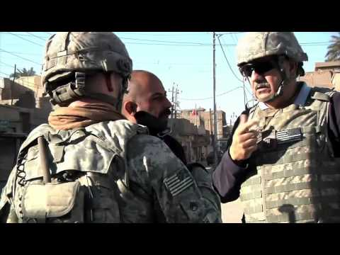 Airborne Soldiers patrolling Baghdad 2011
