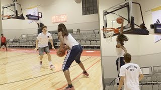 EPIC BASKETBALL CHALLENGES VS TOP HIGH SCHOOL PLAYERS!